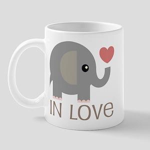 Couples In Love Elephant Mug