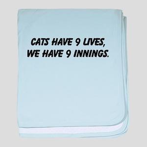 Baseball Funny - baby blanket