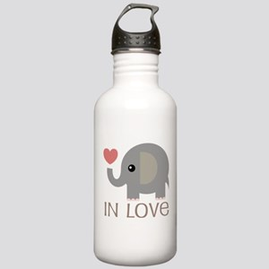 Dating In Love Elephant Stainless Water Bottle 1.0