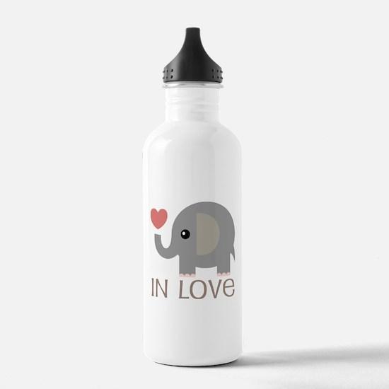 Dating In Love Elephant Water Bottle