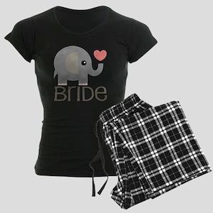 Bride Wedding Elephant Women's Dark Pajamas