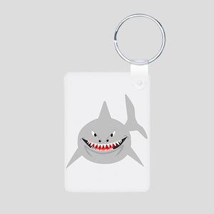 Shark Aluminum Photo Keychain