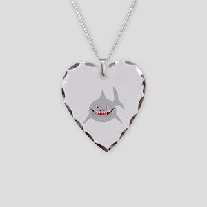 Shark Necklace Heart Charm