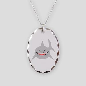 Shark Necklace Oval Charm