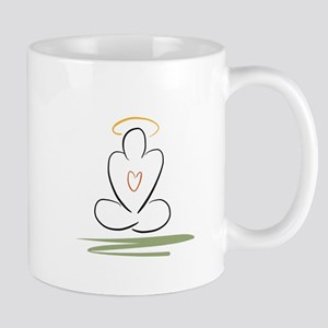 Zen peaceful mind meditation pose Mug