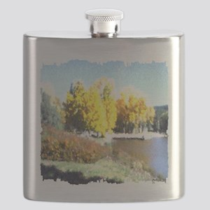 Autumn Lake Flask