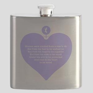 Women Created Heart Flask