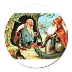 King of the Gnomes Round Car Magnet