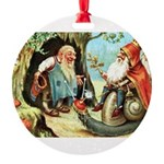 King of the Gnomes Round Ornament