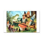 Gnome and Frog on a Seesaw Rectangle Car Magnet