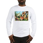 Gnome and Frog on a Seesaw Long Sleeve T-Shirt