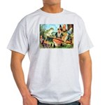 Gnome and Frog on a Seesaw Light T-Shirt