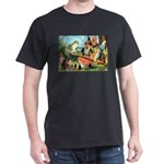 Gnome and Frog on a Seesaw Dark T-Shirt