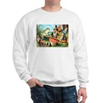 Gnome and Frog on a Seesaw Sweatshirt