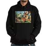 Gnome and Frog on a Seesaw Hoodie (dark)