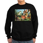Gnome and Frog on a Seesaw Sweatshirt (dark)