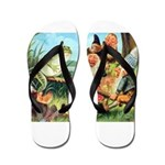 Gnome and Frog on a Seesaw Flip Flops