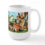 Gnome and Frog on a Seesaw Large Mug