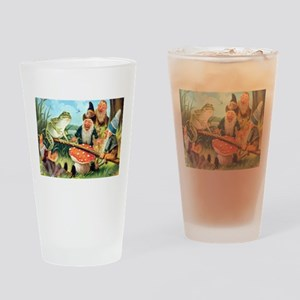 Gnome and Frog on a Seesaw Drinking Glass