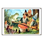 Gnome and Frog on a Seesaw Banner