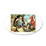 King of the Gnomes 35x21 Oval Wall Decal