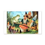 Gnome and Frog on a Seesaw 20x12 Wall Decal