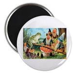 Gnome and Frog on a Seesaw Magnet
