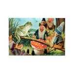 Gnome and Frog on a Seesaw Rectangle Magnet