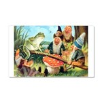 Gnome and Frog on a Seesaw Car Magnet 20 x 12