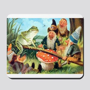 Gnome and Frog on a Seesaw Mousepad