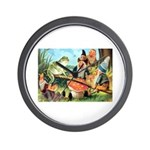 Gnome and Frog on a Seesaw Wall Clock