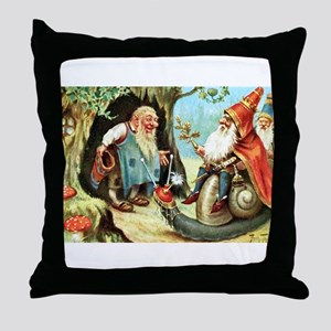 King of the Gnomes Throw Pillow