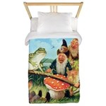Gnome and Frog on a Seesaw Twin Duvet