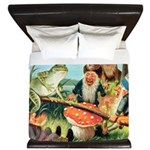 Gnome and Frog on a Seesaw King Duvet