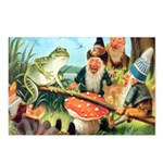 Gnome and Frog on a Seesaw Postcards (Package of 8