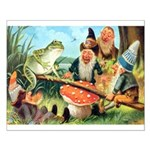 Gnome and Frog on a Seesaw Small Poster