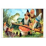 Gnome and Frog on a Seesaw Large Poster