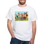 Gnomes Examine a Friendly Squirrel White T-Shirt