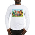 Gnomes Examine a Friendly Squirrel Long Sleeve T-S