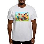 Gnomes Examine a Friendly Squirrel Light T-Shirt