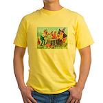 Gnomes Examine a Friendly Squirrel Yellow T-Shirt