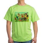 Gnomes Examine a Friendly Squirrel Green T-Shirt