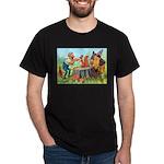 Gnomes Examine a Friendly Squirrel Dark T-Shirt