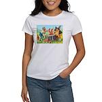 Gnomes Examine a Friendly Squirrel Women's T-Shirt