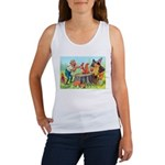 Gnomes Examine a Friendly Squirrel Women's Tank To