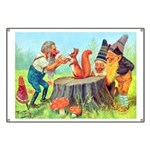 Gnomes Examine a Friendly Squirrel Banner