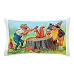 Gnomes Examine a Friendly Squirrel Pillow Case