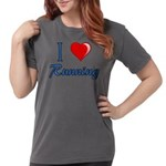 I Heart Running Womens Comfort Colors Shirt
