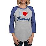 I Heart Running Womens Baseball Tee