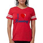 I Heart Running Womens Football Shirt